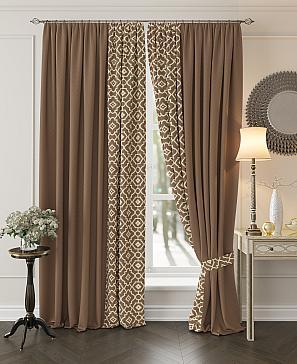Комплект штор ТомДом Луиви (коричневый)