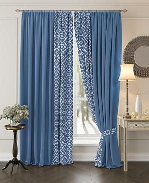 Комплект штор ТомДом Луиви (синий) комплект штор томдом матуш синий
