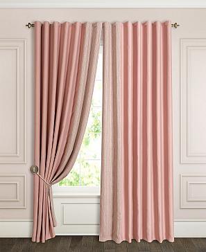 Комплект штор ТомДом Флейт (пыльная роза) фото