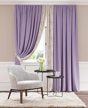 Комплект штор ТомДом Дэлвиор (фиолетовый)