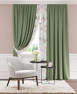 Комплект штор ТомДом Гривиоз (зеленый)