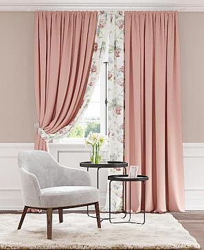 Комплект штор ТомДом Пэрилос (розовый) фото
