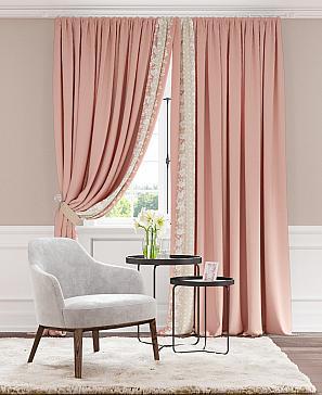 Комплект штор ТомДом Кэрти (розовый)