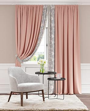 Комплект штор ТомДом Канивис (розовый)
