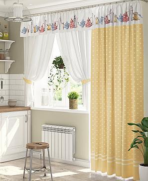 Комплект штор ТомДом Лематин (желтый) фото