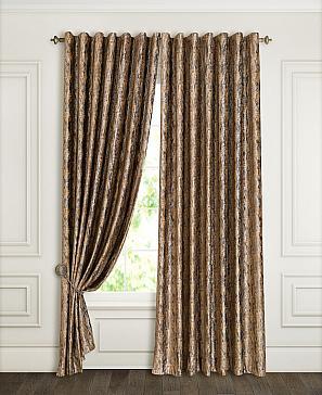 Комплект штор ТомДом Дафур (коричневый) фото