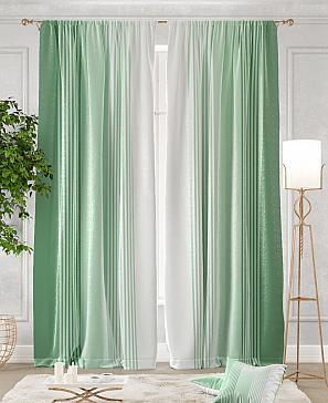 Комплект штор ТомДом Ланджит (зеленый) фото