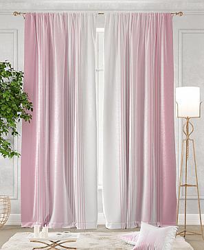 Комплект штор ТомДом Ланджит (розовый)