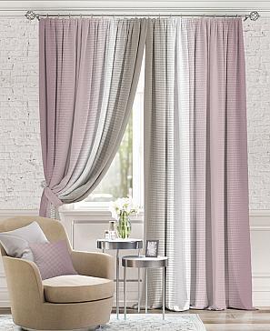 Комплект штор ТомДом Берни (Пыльно-розовый)