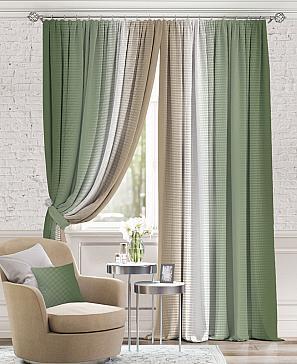 Комплект штор ТомДом Берни (Зеленый)
