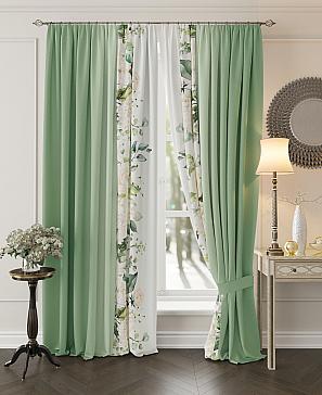 Комплект штор ТомДом Хлои (зеленый)