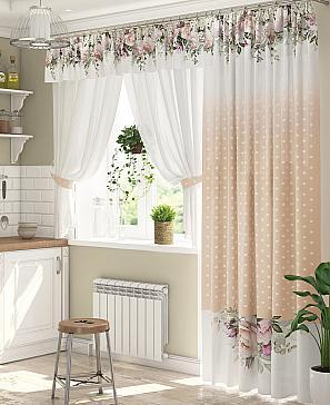 Комплект штор ТомДом Анжели (персиковый) фото