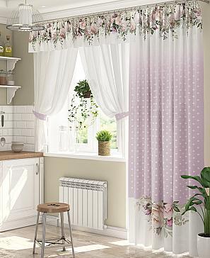 Комплект штор ТомДом Анжели (сирень) фото