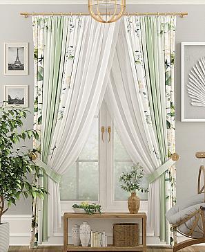 Комплект штор ТомДом Лайтон (зеленый) фото