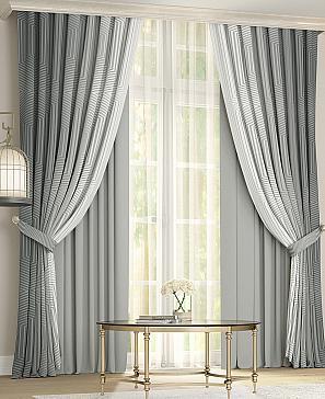 Комплект штор ТомДом Новиар (серый) фото