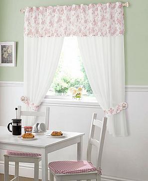 Комплект штор ТомДом Селия (пыльная роза) фото