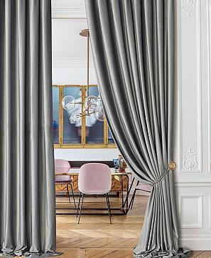 Комплект штор ТомДом Бруад (светло-серый)