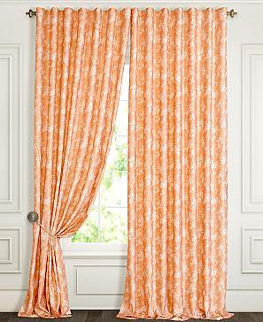 Комплект штор ТомДом Ликли (оранжевый)