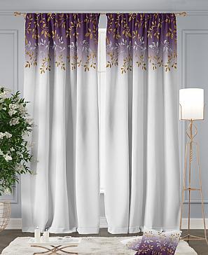Комплект штор ТомДом Ритти (фиолетовый) фото