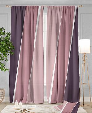 Комплект штор ТомДом Джорин (розово-фиолетовый)
