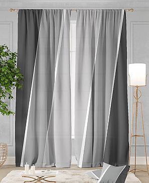 Комплект штор ТомДом Джорин (серый) фото