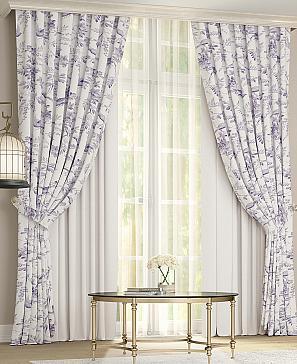 Комплект штор ТомДом Фейрио (бело-фиолетовый) фото