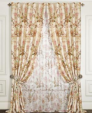 Комплект штор ТомДом Бруол (розовый) фото