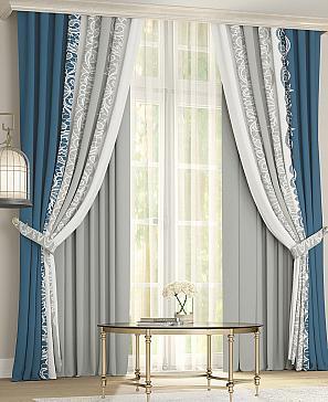 Комплект штор ТомДом Райнис (светло-серый) фото