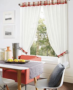 Натеро (красный) комплект штор томдом натеро красный
