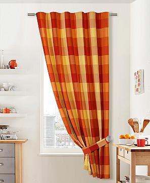 Портьера ТомДом Шалти (оранжево-красный) фото