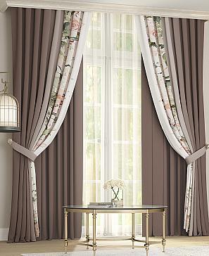 Комплект штор ТомДом Кайси (коричневый) фото