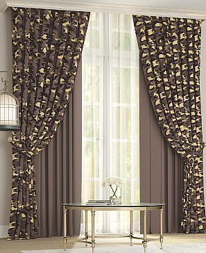Комплект штор ТомДом Леорика (коричневый) фото