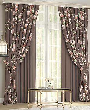 Комплект штор ТомДом Налисия (коричневый) фото