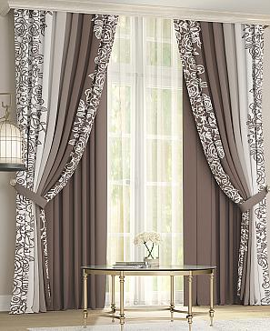Комплект штор ТомДом Невио (коричневый) фото