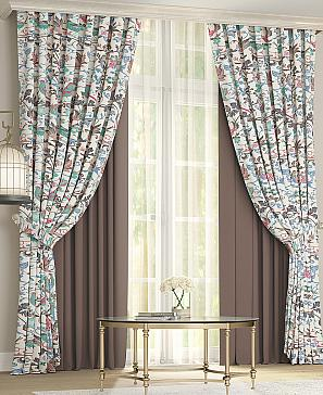 Комплект штор ТомДом Дейси (коричневый) фото