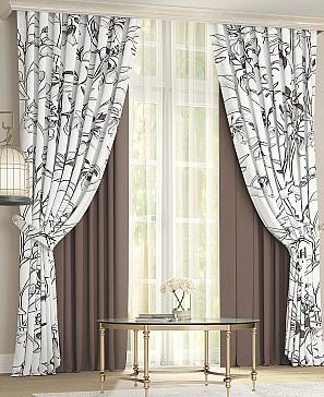 Комплект штор ТомДом Риолис (коричневый) фото
