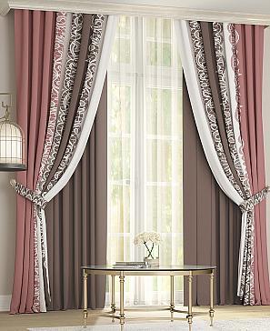 Комплект штор ТомДом Райнис (коричневый) фото