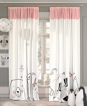 Комплект штор ТомДом Киоти (розовый)