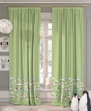Комплект штор ТомДом Лориас (зеленый)