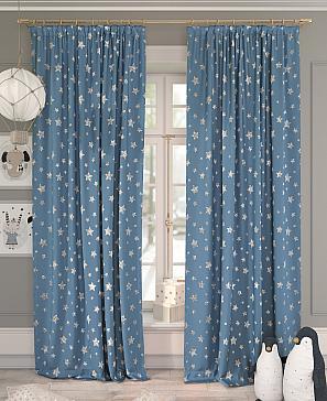 Комплект штор ТомДом Мотирис (синий) комплект штор томдом матуш синий