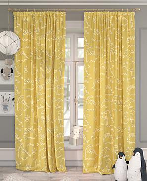 Комплект штор ТомДом Динокси (желтый) фото