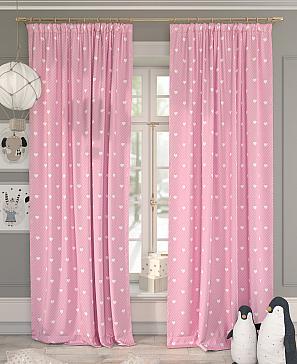 Комплект штор ТомДом Хартис (розовый)