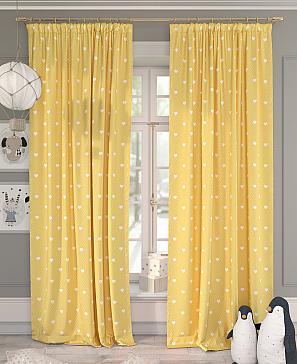 Комплект штор ТомДом Хартис (желтый)