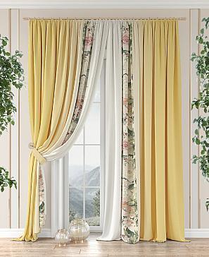 Комплект штор ТомДом Чилони (желтый) фото