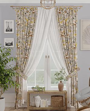 Комплект штор ТомДом Кермани (желтый) фото