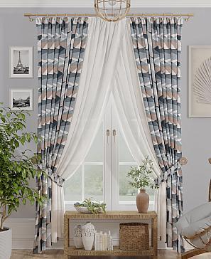 Комплект штор ТомДом Лузид (серый) фото