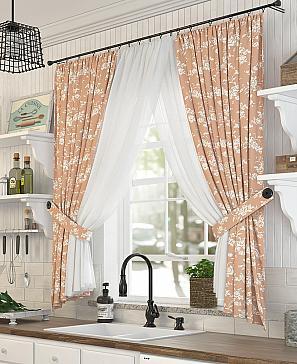 Комплект штор ТомДом Эрели (оранжевый) фото