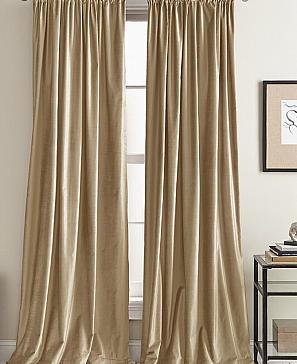 Комплект штор ТомДом Фрови (пыльно-серо-коричневый)