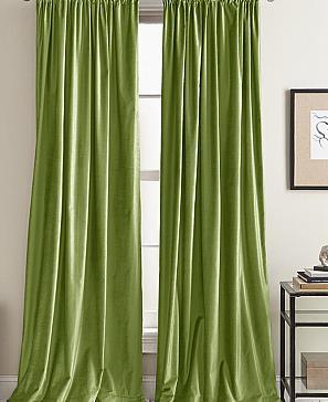Комплект штор ТомДом Фрови (зеленый) фото