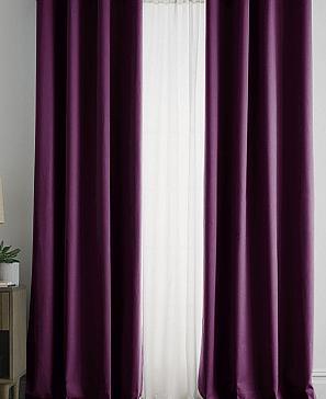 Комплект штор ТомДом Браер (винный) фото